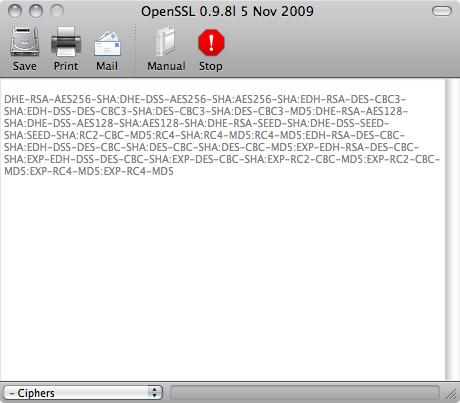 Cryptix 0.90 OpenSSL